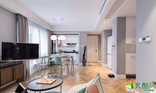 常州89平两居室混搭风格装修案例