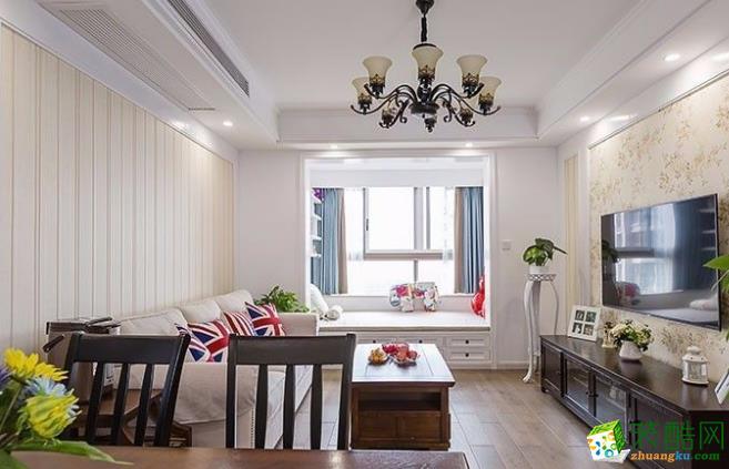 常州90平三居室美式风格装修案例