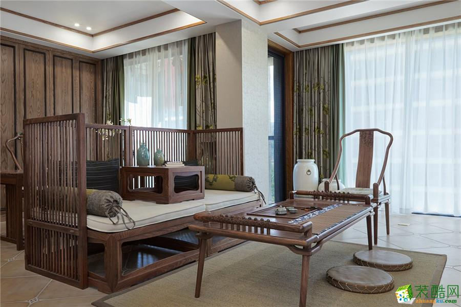 重庆别墅装修-庆隆南山高尔夫260平米中式风格装修效果图