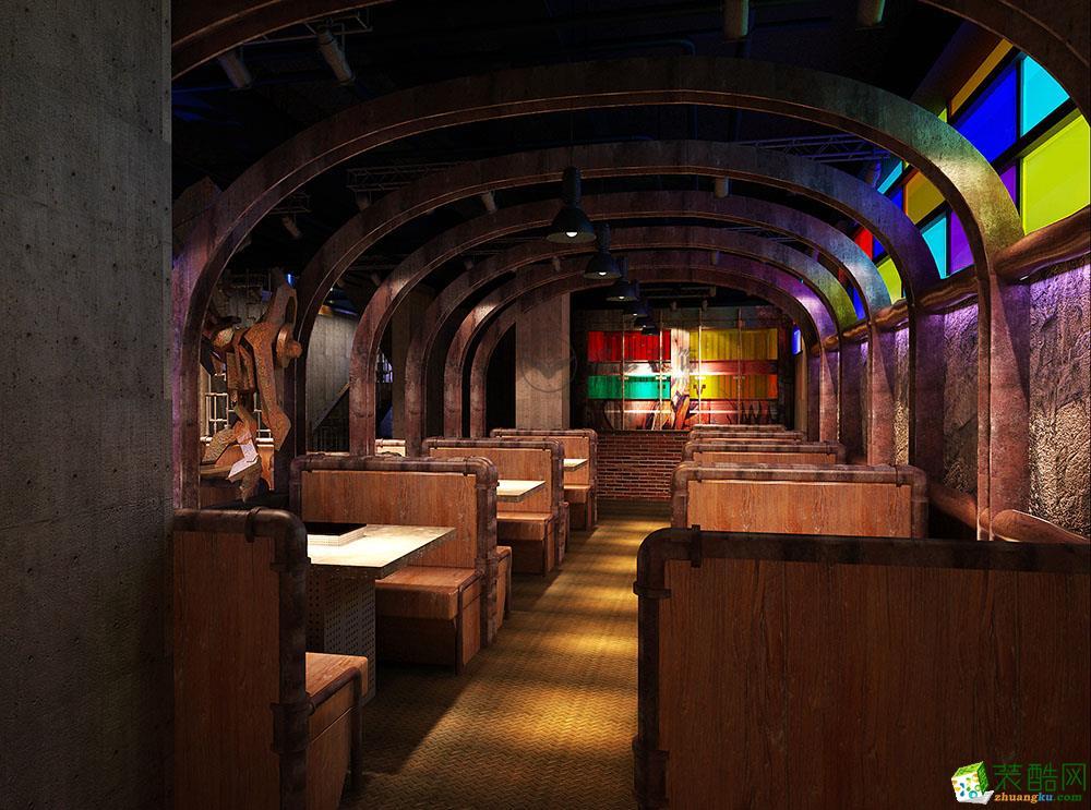 成都餐厅装修-1300平米主题酒店装修效果图-鹏云装饰