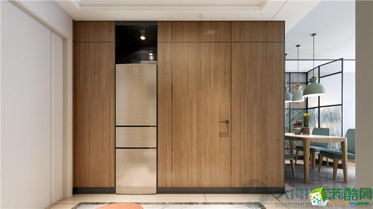 >> 海口两室两厅装修-73平米简约清新风格装修效果图-大拇指装饰
