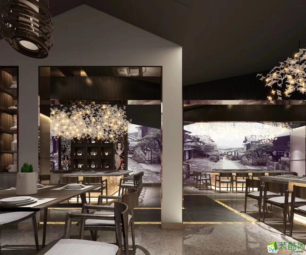 合肥特色餐厅装修—300方伊滋铁板烧肥东吾悦广场店