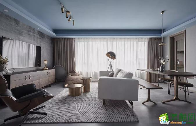 【路悦装饰】108平现代风格三居装修效果图