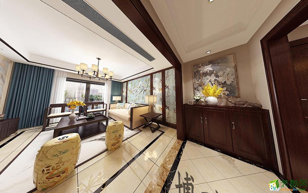 金星桃源居110方中式风格三室一厅一卫装修效果图