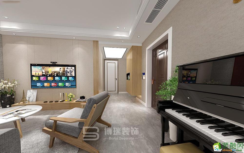 阳光郡116方新中式风格两室两厅一卫装修设计效果图
