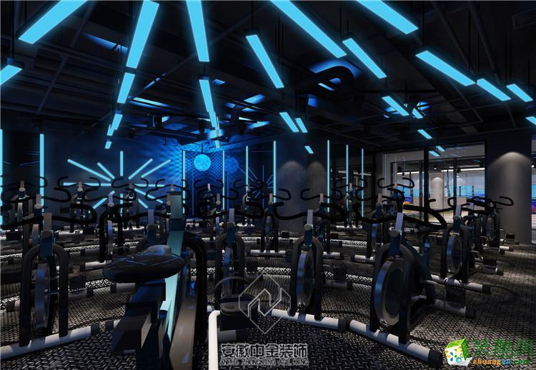 合肥健身房装修案例―1100�O菲利弗健身会所设计作品