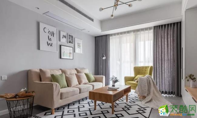 常州90平两居室简约风格装修案例