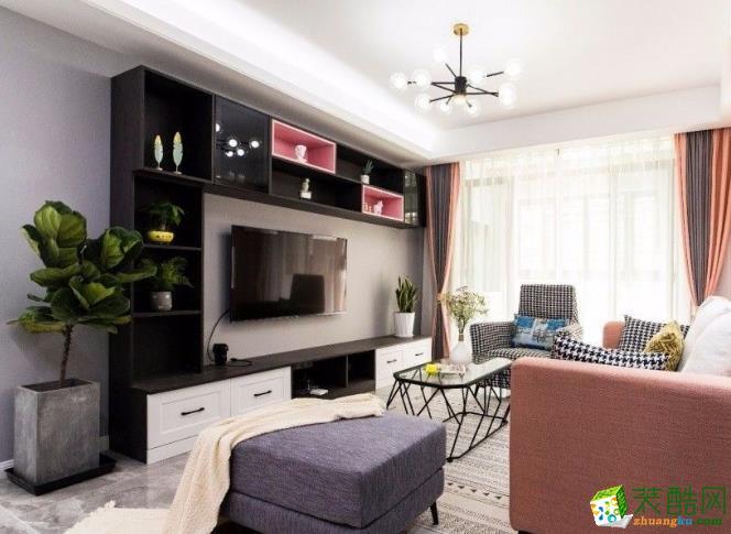 常州90平简约风格两居室装修效果图