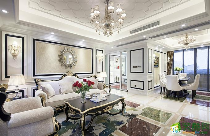 南京135平米輕奢法式風格裝修案例