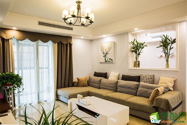 南京兩居室風色彩繽紛簡約60平米案例