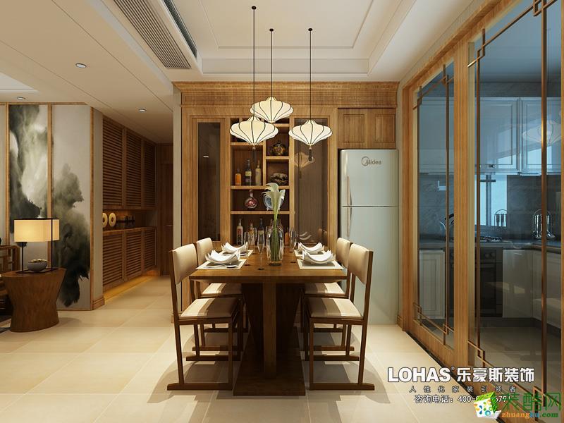 玫瑰湾三室两厅140�O新中式风格装修效果图