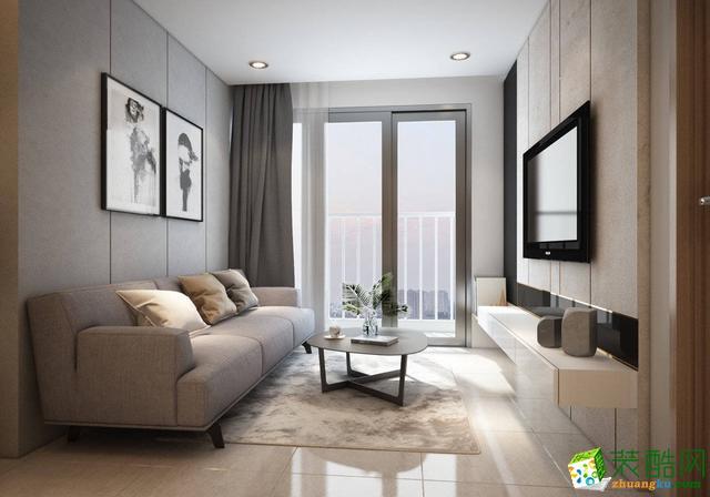 简约-两室一厅装修案例效果图