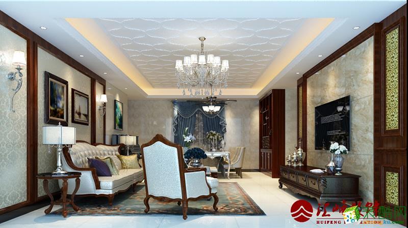 混搭风格-两房一厅装修案例效果图