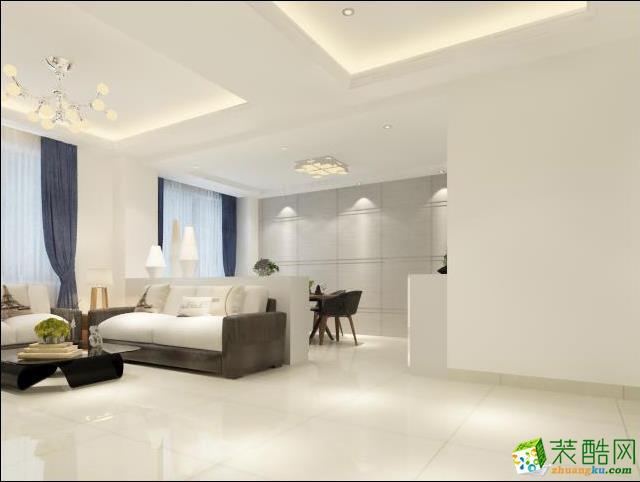 简约-三室两厅装修案例效果图