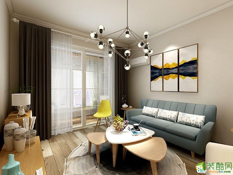 重庆三室两厅装修-80平米北欧风格装修效果图-金工装饰