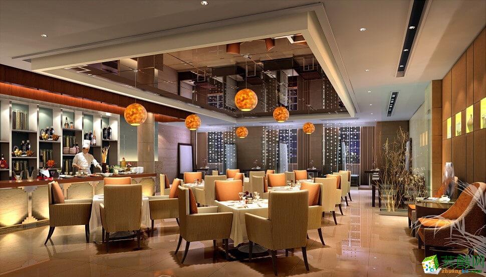 合肥餐饮店装修案例―800�O自助餐厅装修设计施工作品