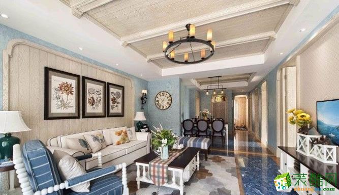 常州100平三居室美式风格装修案例