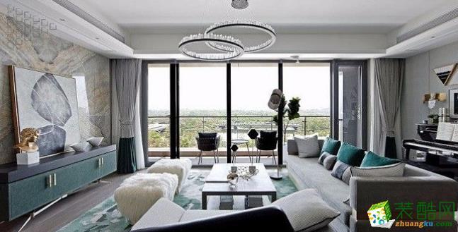 常州120平欧式风格三居室装修案例