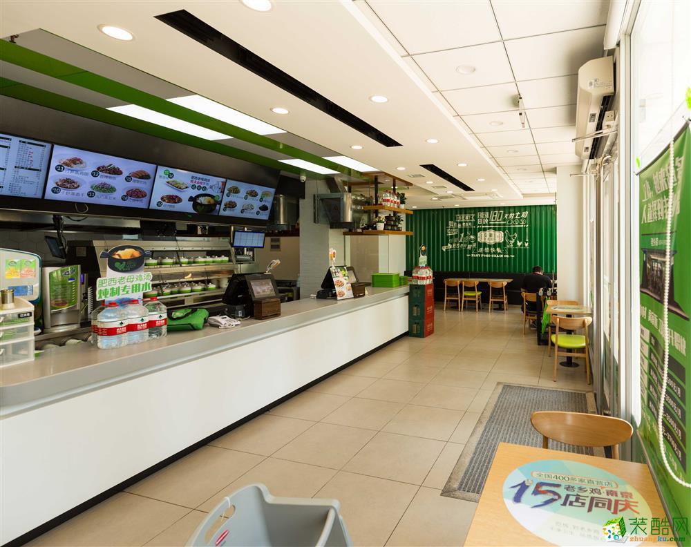 合肥快餐店装修案例―700�O老乡鸡快餐店装修设计施工作品