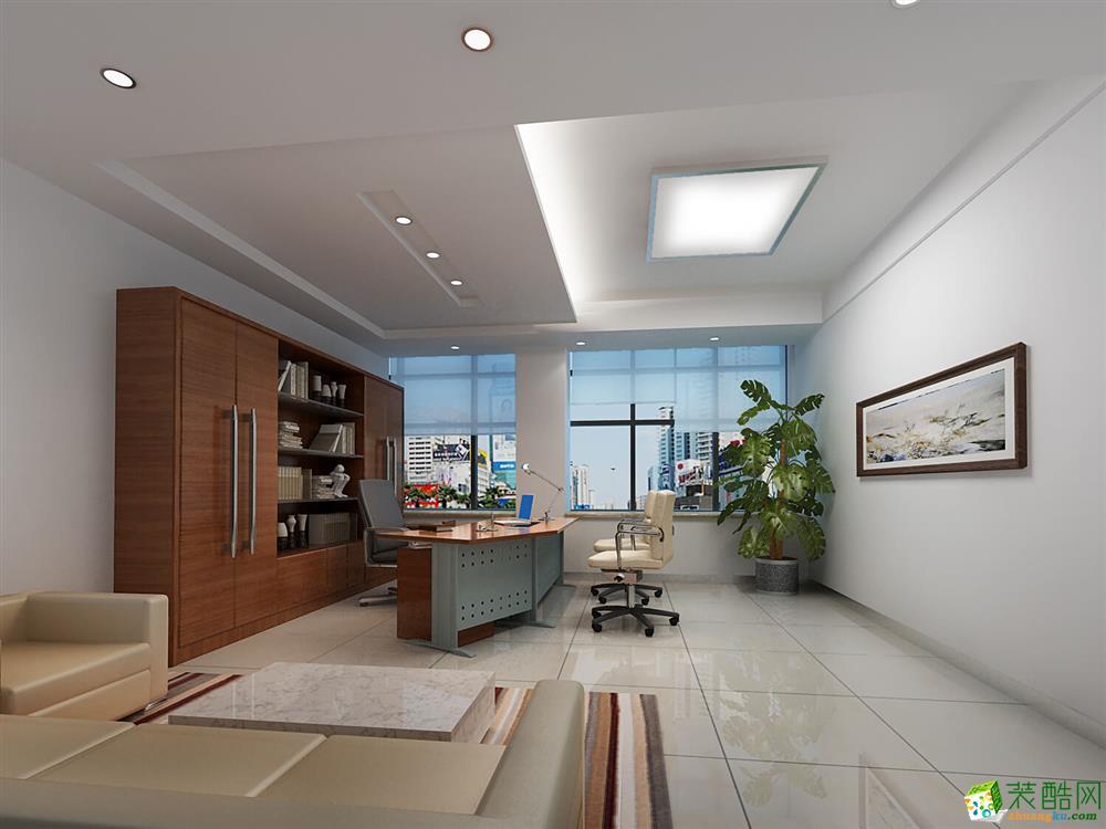 合肥办公室装修案例―3500�O安徽量子通信办公室设计施工作品