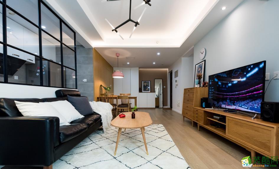 昆明84平2室2廳裝修案例圖-乾美裝飾