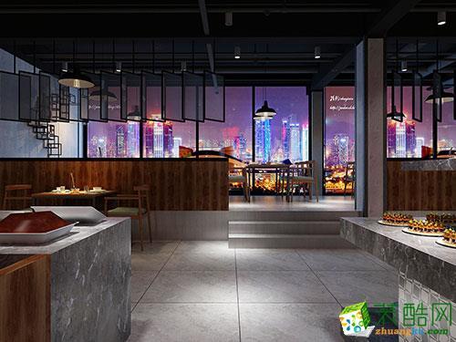 重庆餐厅装修-800平米大型餐厅装修效果图-日之月装饰