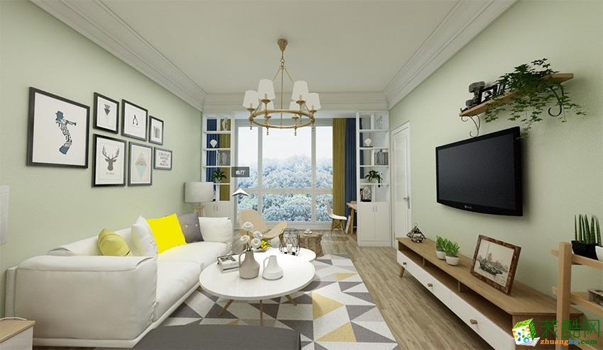 大连三室两厅装修-89平米北欧风格装修效果图-三岛装饰