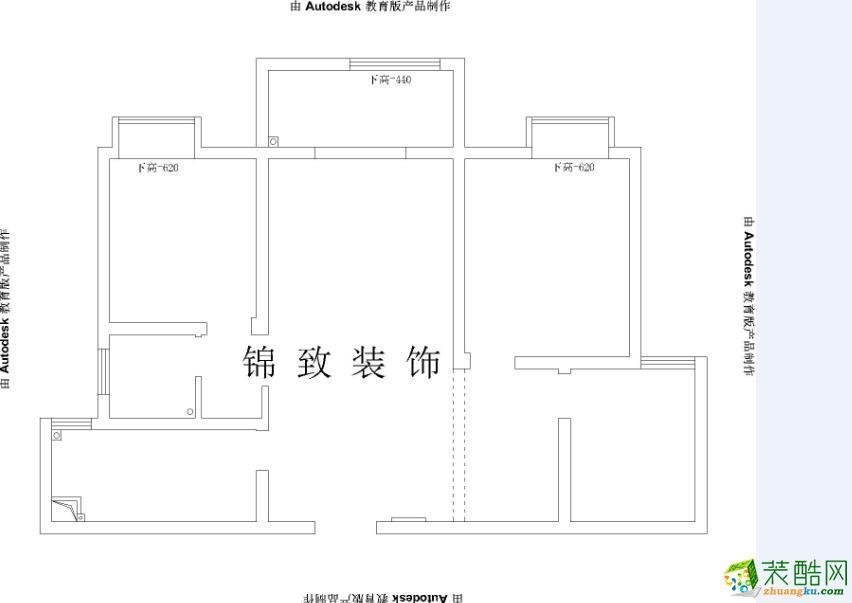 迎河家园96�O三室两厅一卫现代风格装修效果图