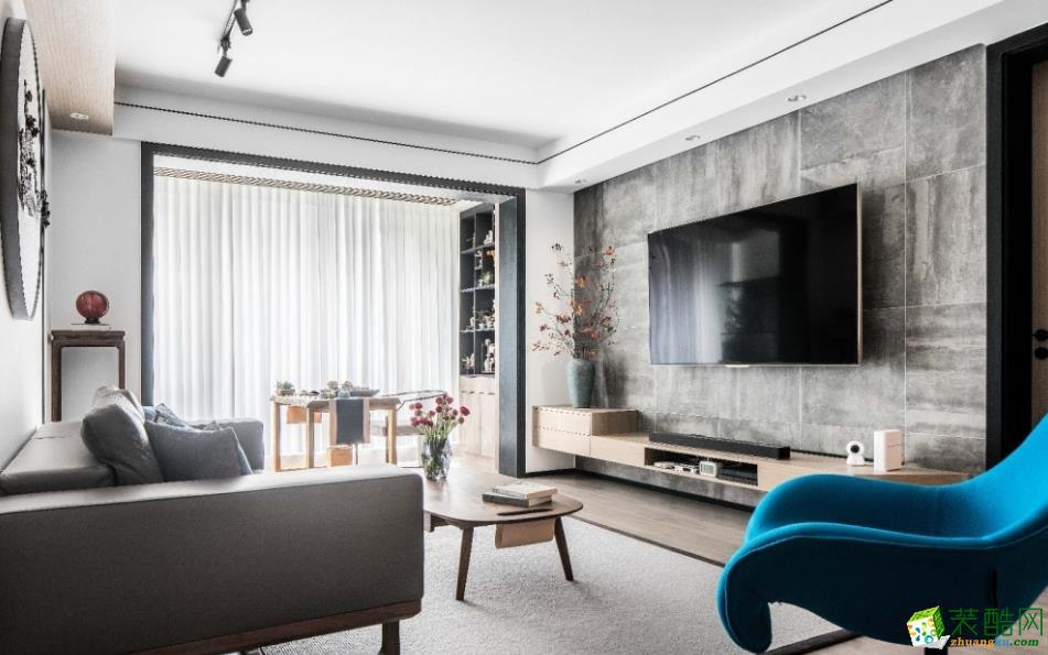 昆明92平三室兩廳裝修案例圖-東美裝飾