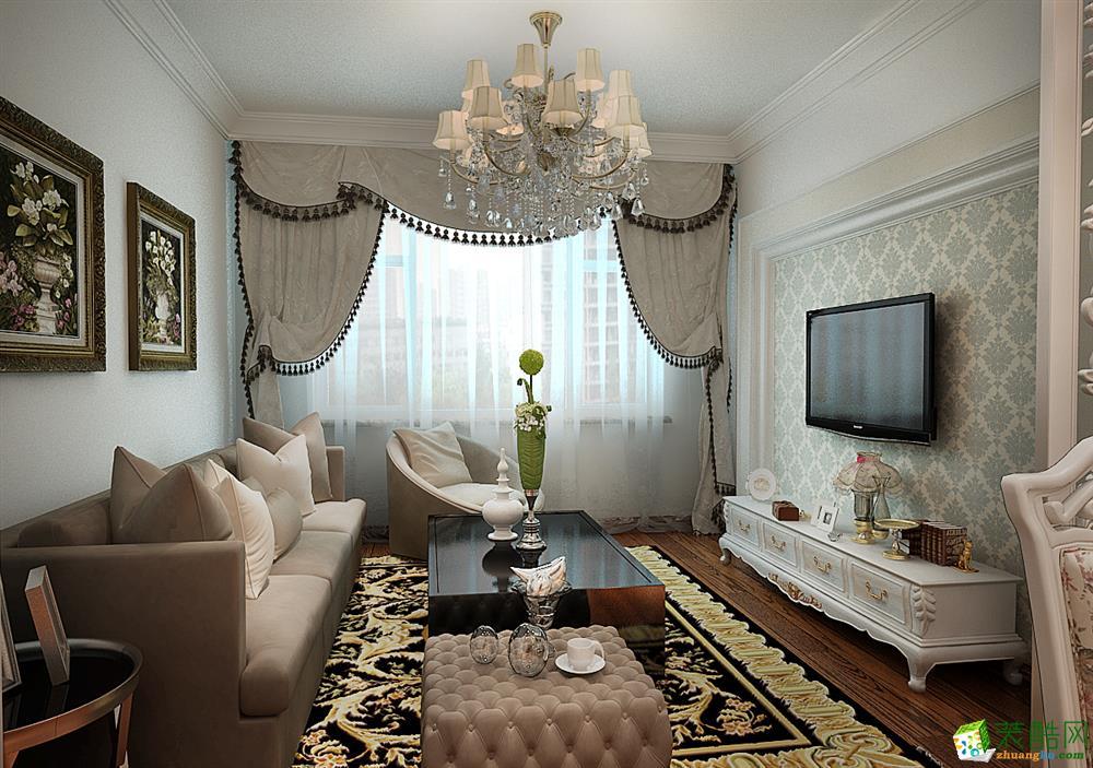 现代简约-二居室装修案例效果图