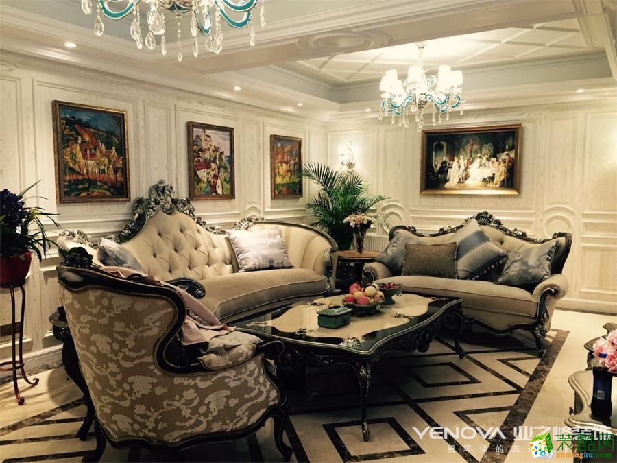 业之峰设计作品―复地东湖国际280�O浪漫法式风格别墅设计案例