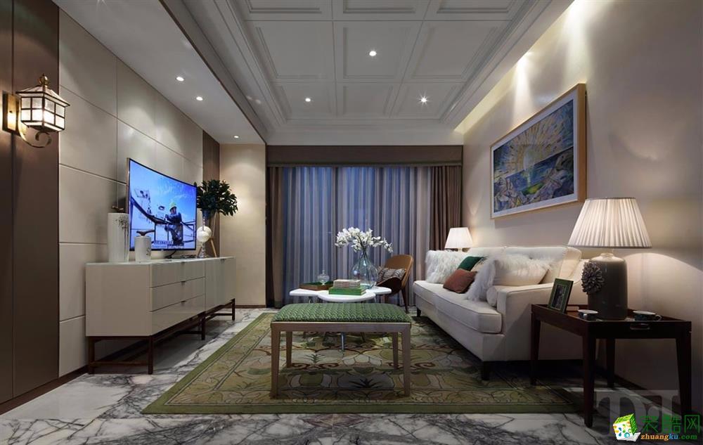天地和―大华滨江天地98�O三室一厅一卫简约风格作作品
