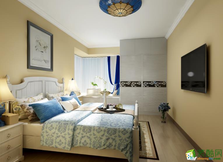 济南南塘北居装饰-85平米地中海两居室装修案例