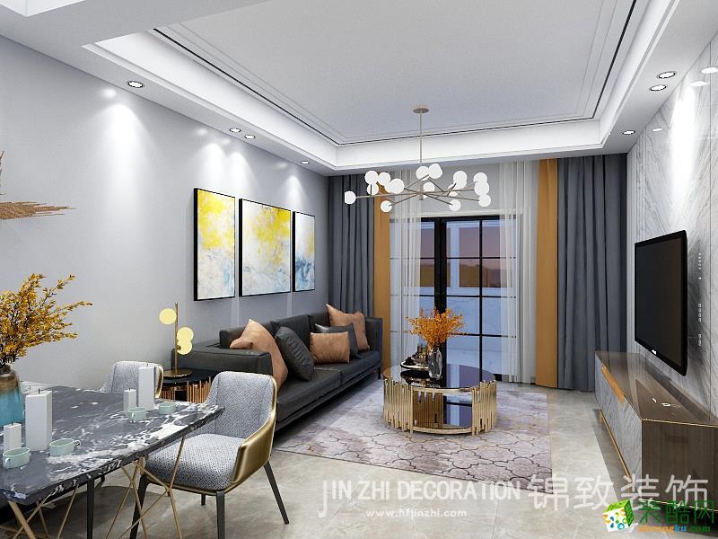 当代未来城104�O三室两厅一卫现代风格装修设计效果图