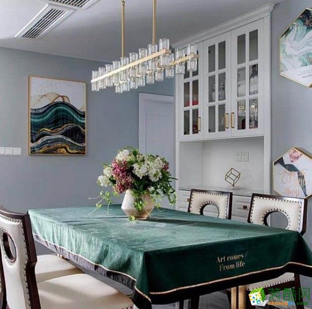 常州86平三居室美式风格装修案例