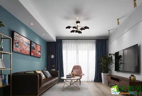 常州120平三居室简约风格装修案例