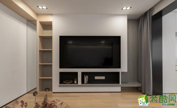 常州102平两居室简约风格装修案例