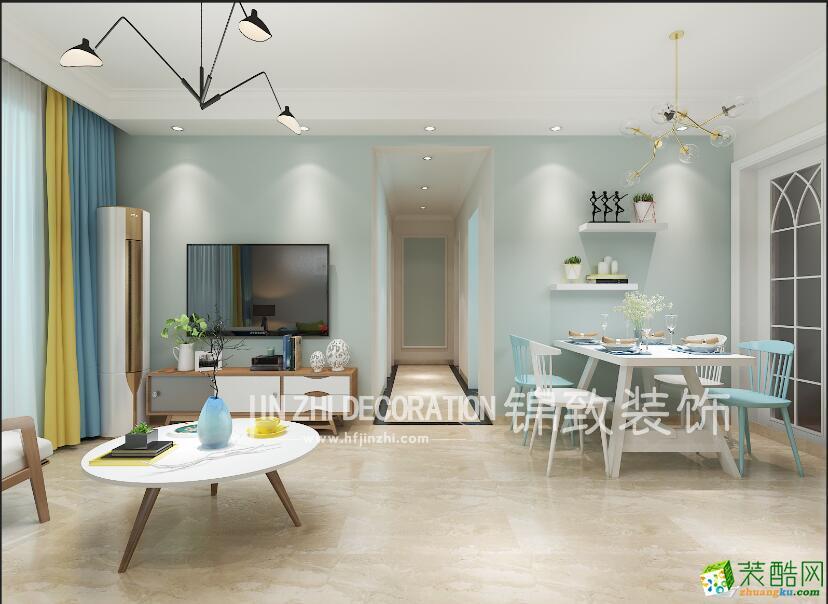 少荃湖89�O两室两厅一卫北欧风格装修效果图