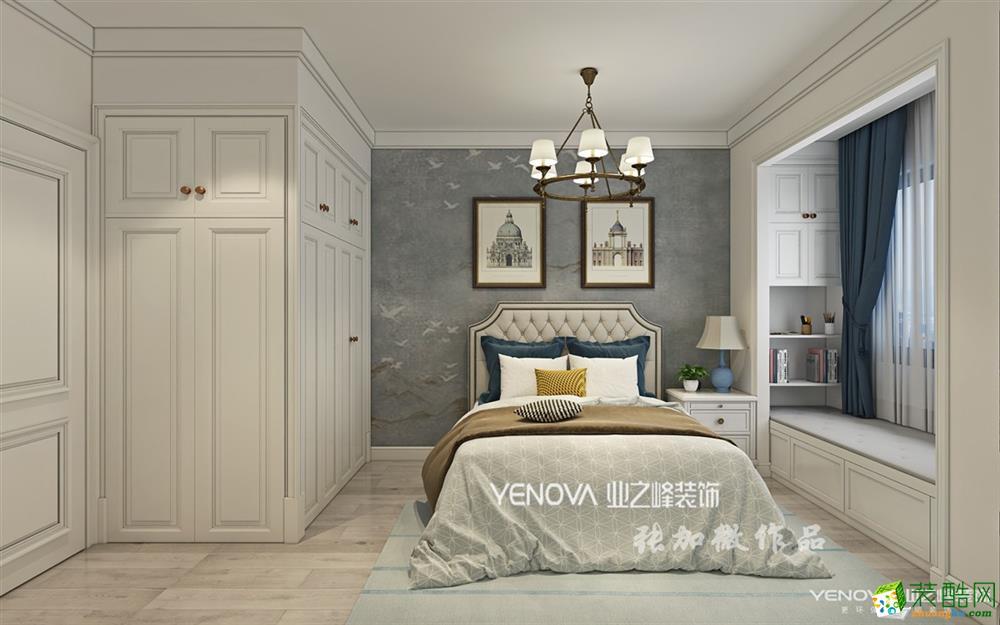 业之峰装饰120㎡三室两厅两卫美式温馨风格作品