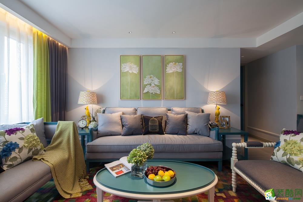 120平三居室简美装修风格效果图
