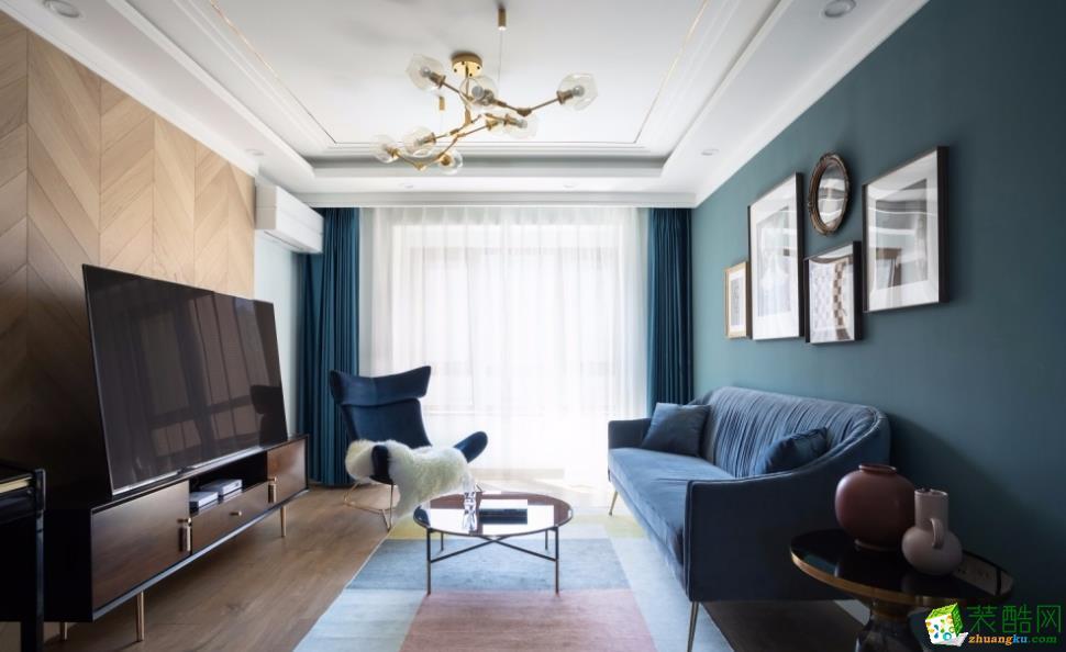 昆明102平米三室两厅法式风格-千百炼装饰_法式风格-三室两厅两卫