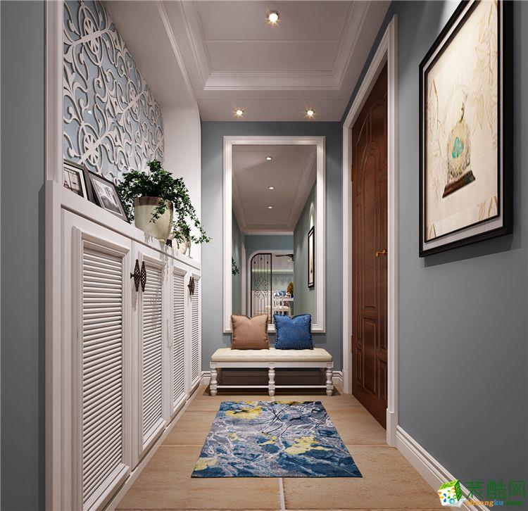 新乡110平三室两厅一卫美式风格装修效果图