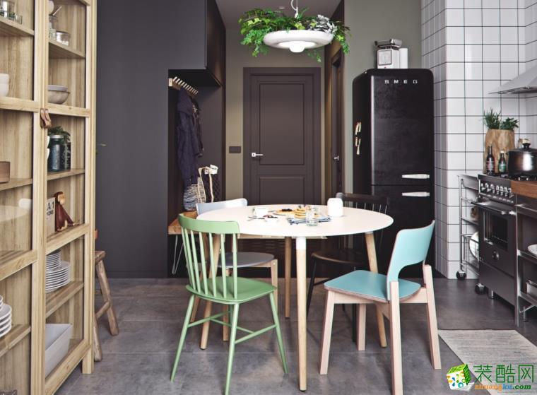 长沙必美装饰-90平米简约两居室装修案例