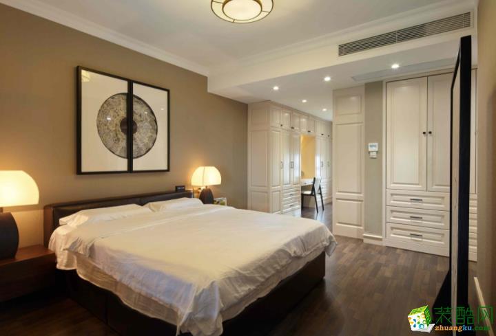 长沙必美装饰-120平米美式三居室装修案例