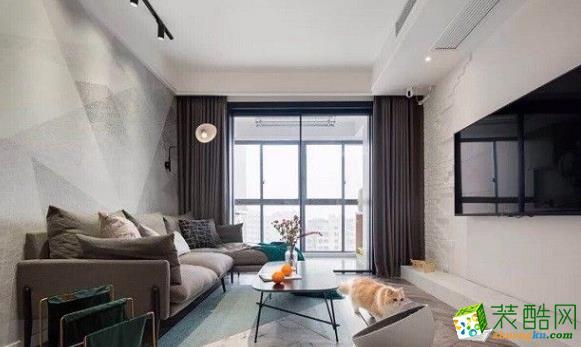 常州78平两居室简约风格装修案例
