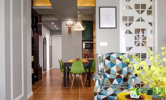 常州105平三居室简约风格装修案例