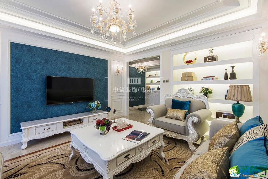 昆明200平四居室混搭風格裝修案例圖-中策裝飾