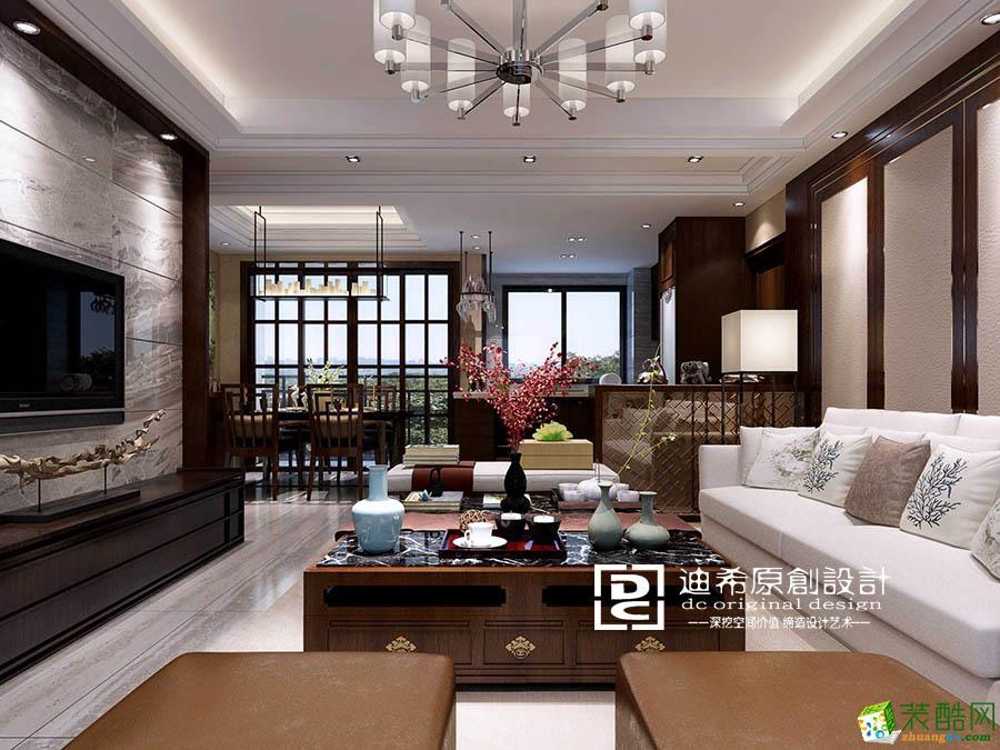 碧桂园350�O中式风格装修效果图