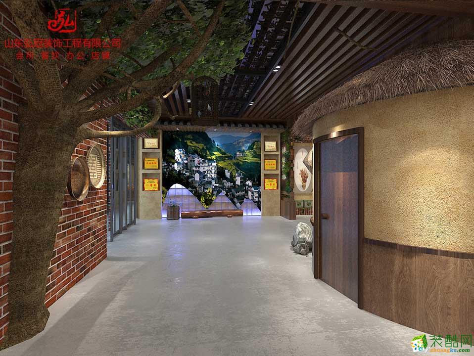淄博中式展厅展台展示馆农业超市设计装饰装修设计公司哪家好
