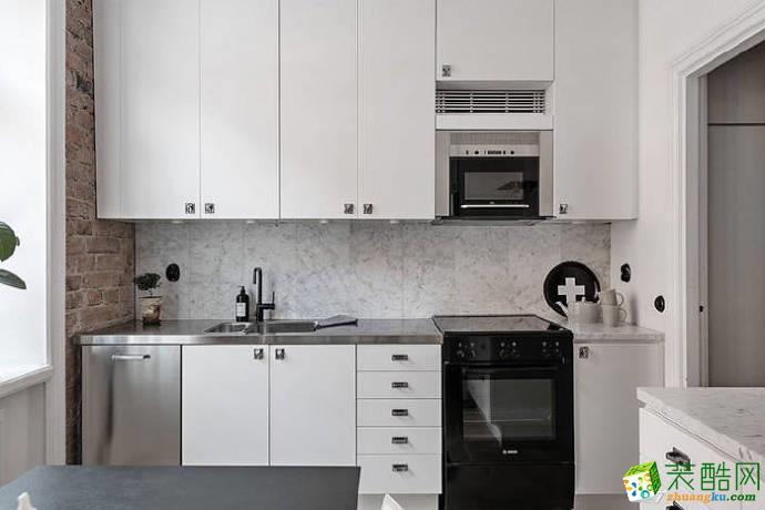 顶�L国际城88平两室一厅一卫现代简约风格设计作品
